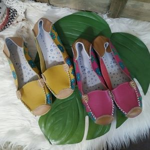 Shoes - 2 pairs of Remote control floral loafers
